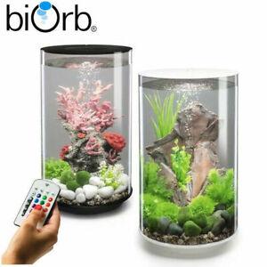 Oase BiOrb Tube 30 Aquarium Fish Tank MCR LED Lighting Filter Black / White 30L