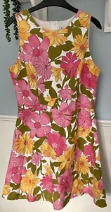 60s Style Flowered Dress By Henry Holland Size 12