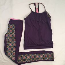 IVIVVA by Lululemon sz 10/12 Girls Lot of 2  - Purple Pants And Matching Tank