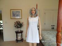 Lilly Pulitzer White Jacquard A Line Dress Size 0