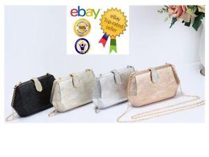 New Women's Ladies Elegant Hexagon Shape Evening/Clutch Bag With Diamante Clasp