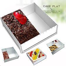 Meleg Otthon Cake Pan Baking Sheet Set DIY Aluminium Adjustable 12x12x4 Inches