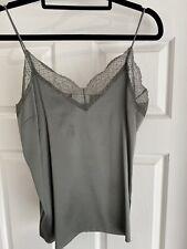 Witchery Silk Cami With Lace Trim Size 6