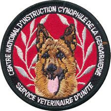 CHIEN, C.N.I.C.G, Service Vétérinaire d'Unité sur support noir, en tissu (10047)
