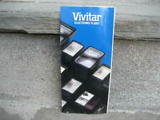 Vivitar Electronic Camera Flash Brochure