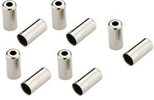 New Jagwire Open Housing End Caps 5mm Brake Cables Chrome Plates Brass 10 pcs