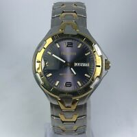 Armitron Mens 1745 Two Tone Stainless Steel Band Day/Date Indicator Watch
