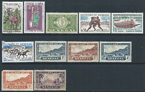 Senegal Small Collection of 10 Hinged Mint and 1 Used stamp