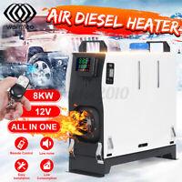 All In One 8KW 12V Diesel Air Heater Remote Control For Motorhome Caravan