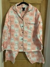 joe Boxer flannel pajamas size 1X with cat pattern