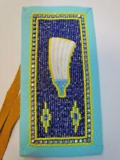 Beautiful Beaded Hair Piece, Dark sky feather design, hand made Native American