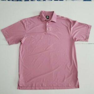FOOTJOY FJ MENS Pink Size XL Golf Polo Shirt Short Sleeve