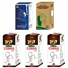 OM Herbal Treatment For Men 60 No Fall + 60 Maha Rasayan + 3 King Cobra Oil