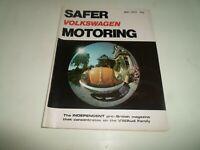 VOLKSWAGEN SAFER MOTORING May 1979 Vintage Illustrated Magazine + Adverts