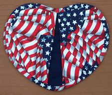 Heart Shaped American Flag Stars Oven Mitt Pot Holder
