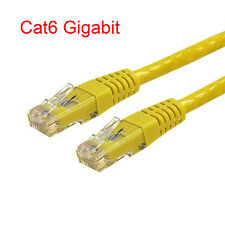 10 Ft Cat6 RJ45 24AWG 550Mhz Gigabit LAN Ethernet Network Patch Cable - Yellow