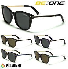fec1e83b851 Be One Womens Polarised Sunglasses - Retro Frame-Metal Arms Round Polarized  Lens