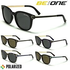 Be One Womens Polarised Sunglasses -Stylish Retro Frame - Metal Arms - Polarized