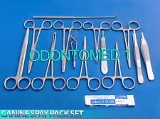 50 PCS CANINE SPAY PACK VETERINARY SURGICAL INSTRUMENTS-Premium Grade DS-1048