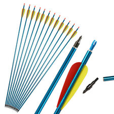 """12pcs 31"""" Archery Aluminum Arrows Practice Hunting Screw-in Compound Recurve Bow"""