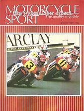 Motorcycle Sport Magazine 1984 - Bimota HB3 Moto Martin Z1000 Kawasaki Z1000R