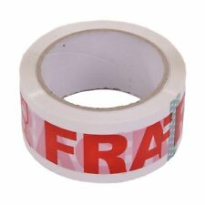 1 Roll Packing Fragile Sticky Tape 48mm*66m Red/White pack glass BUY QTY REQD
