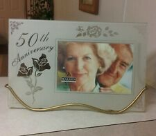 """Malden 50th Anniversary Picture Frame  Stand Include 7 x 14"""" New Old Item In Box"""