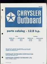 1972 Chrysler 12.9Hp Outboard Motor Parts Manual / Ob 1683