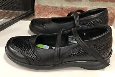 Aetrex Julia Black Pebble Leather Mary Jane Style E360W Size 7 Wide