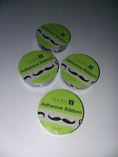 Studio g Adhesive Ribbon ~ Mustache ~ 4 Rolls of 2 ft = 8 ft Ribbon ~ New