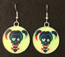 HARLEY QUINN Earrings Surgical Hook New Cartoon Batman Villain (B)