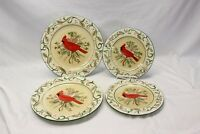 Century Cardinal Xmas Dinner and Salad Plates Lot of 4
