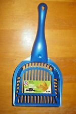 "Van Ness Regular 5"" blue Plastic Litter Scoop"