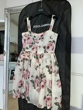 Authentic dolce & Gabbana 100% Silk Dress With Roses Print