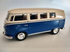 VW Bus Combi Volkswagen 1962  bleu et beige 13cm neuf  metal