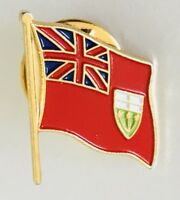Union Jack English Commonwealth Flag Souvenir Pin Canada Badge Vintage Rare (C2)