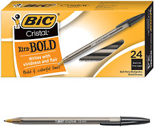 Bic Cristal Xtra Bold Ballpoint Pen Bold Point 16mm Black 24 Count