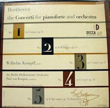 KEMPEN KEMPFF beethoven concerti pianoforte 3 LP VG+ DX 125 Vinyl 1953 Record