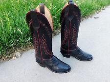 Nice Olathe Buckaroo Tall Western Cowboy Boots Men's 11.5D Black Leather