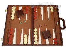 "18"" Deluxe Backgammon Set - Brown - Classic Board Games"