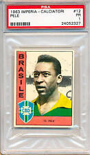 1963 Pele Imperia - Calciatori PSA 1 Amazingly Attractive Soccer card of legend!