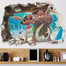 Movie Moana Maui Pua Heihei Mural Wall Sticker Decals for Kids Child Room Decor