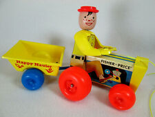 Vintage 1967 Fisher Price Happy Hauler pull along tractor toy