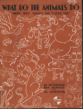 What Do The Animals Do When They Wanna Say I Love You 1934 Sheet Music