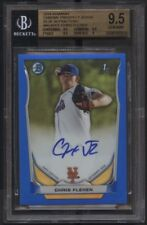 Chris Flexen 2014 Bowman Chrome Blue #64/150 Refractor Auto RC BGS 9.5/10 - Mets