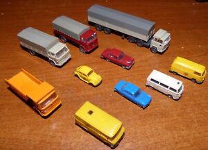 Wiking - Konvolut mit zehn Fahrzeugen (Mini-Winking, Spur N)