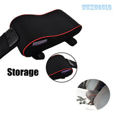 """1PC 11.8""""X6.3""""X3.9""""Car Seat Armrest Cushion  Protective Case Black With Red Line"""