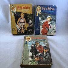 Trixie Belden 3 Mystery Books Kathryn Kenny Marshland Happy Valley Black Jacket