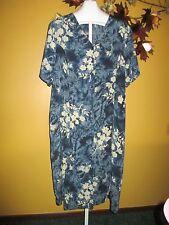 SALE NWT Lane Bryant Blue Floral Spring Summer Dress  28 / 3X