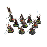 DAEMONS OF CHAOS 10 bloodletters #2 WELL PAINTED Warhammer  40K Sigmar Khorne